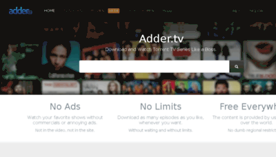 What Adder.tv website looked like in 2018 (3 years ago)