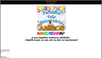 What Amigosdawap.net website looked like in 2018 (3 years ago)