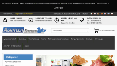 What Agritechstore.de website looked like in 2018 (3 years ago)