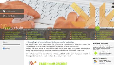 What Add-link.de website looked like in 2018 (3 years ago)
