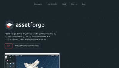 What Assetforge.io website looked like in 2018 (3 years ago)