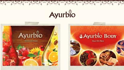 What Ayurbio.jp website looked like in 2018 (3 years ago)