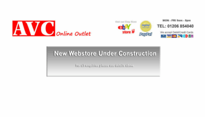 What Avcoutlet.co.uk website looked like in 2018 (3 years ago)