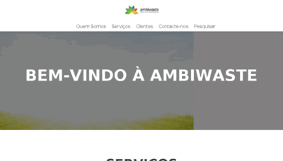 What Ambiwaste.pt website looked like in 2018 (2 years ago)