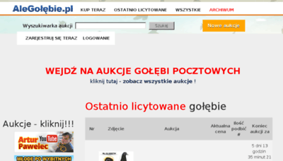 What Alegolebie.pl website looked like in 2018 (2 years ago)