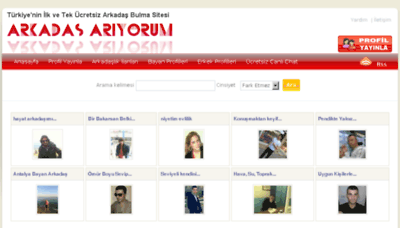 What Arkadasariyorum.gen.tr website looked like in 2018 (2 years ago)