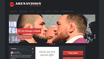 What Arenavision.ru website looked like in 2018 (2 years ago)