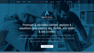 What Apollogroup.tv website looked like in 2018 (2 years ago)