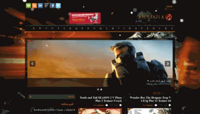 What Abolfazl-k.ir website looked like in 2018 (2 years ago)