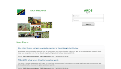 What Ards.kilimo.go.tz website looked like in 2019 (2 years ago)