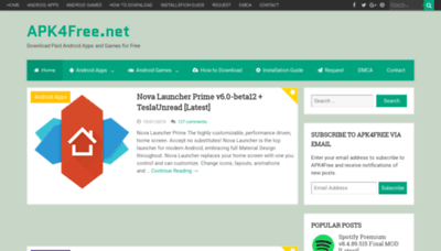 What Apk4free.net website looked like in 2019 (2 years ago)