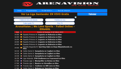 What Arenavisiontv.es website looked like in 2019 (2 years ago)