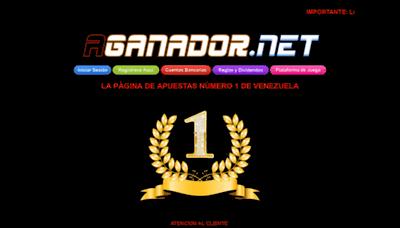 What Aganador.net.ve website looked like in 2019 (2 years ago)