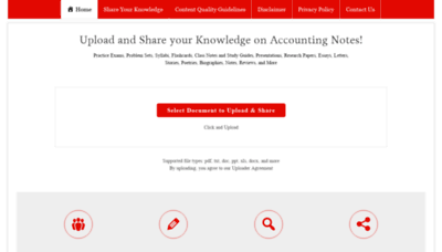 What Accountingnotes.net website looked like in 2019 (2 years ago)