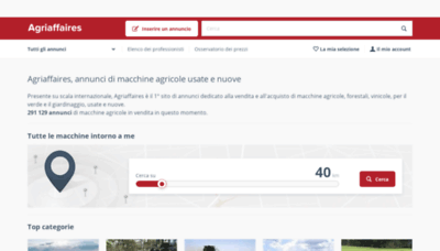 What Agriaffaires.it website looked like in 2019 (2 years ago)
