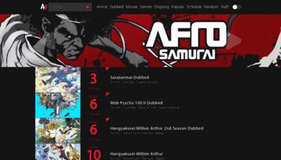 What Animefrenzy.net website looked like in 2019 (1 year ago)