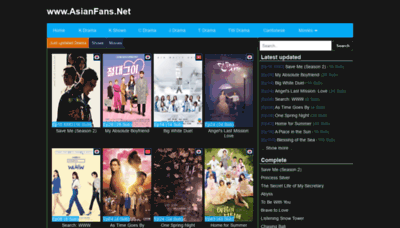 What Asianfans.net website looked like in 2019 (2 years ago)