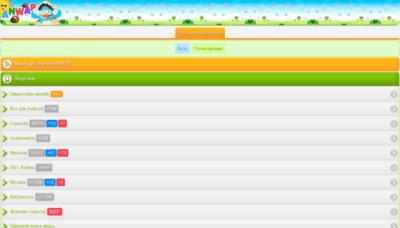 What Anwap.menu website looked like in 2019 (1 year ago)