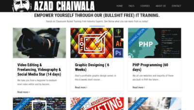 What Azadchaiwala.pk website looked like in 2019 (1 year ago)