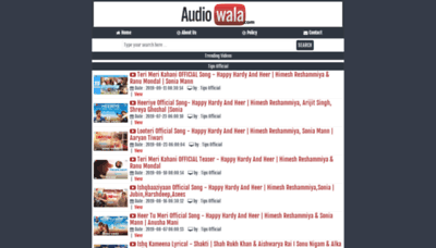 What Audiowala.net website looked like in 2019 (2 years ago)