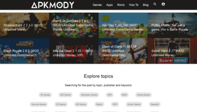 What Apkmody.io website looked like in 2019 (2 years ago)