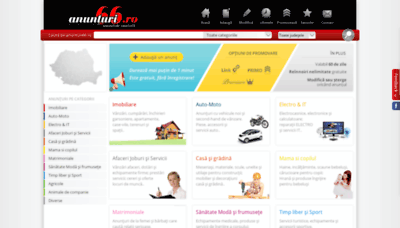 What Anunturi66.ro website looked like in 2019 (1 year ago)