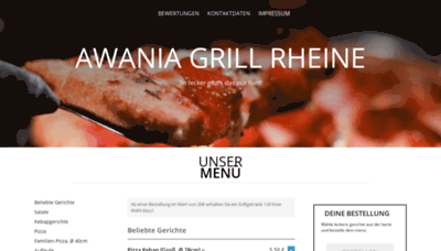 What Awaniagrill.de website looked like in 2019 (1 year ago)