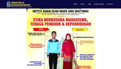 What Akama.iainbukittinggi.ac.id website looked like in 2019 (2 years ago)