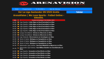 What Arenavisiontv.es website looked like in 2019 (1 year ago)