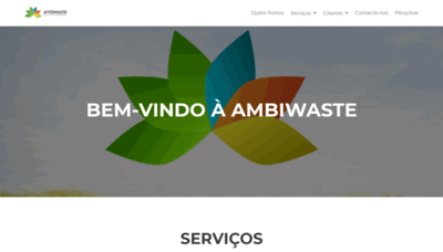 What Ambiwaste.pt website looked like in 2019 (1 year ago)