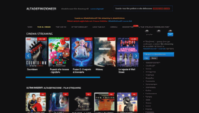 What Altadefinizione01.cc website looked like in 2019 (1 year ago)
