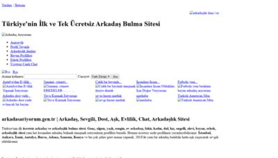 What Arkadasariyorum.gen.tr website looked like in 2020 (1 year ago)