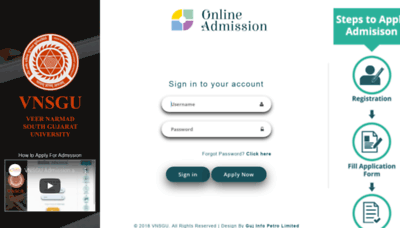 What Admission.vnsgu.net website looked like in 2020 (1 year ago)