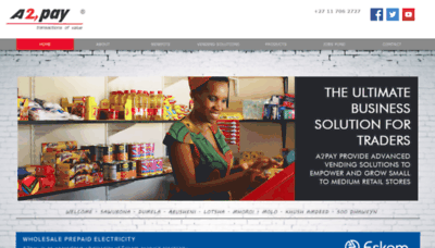 What A2pay.co.za website looked like in 2020 (1 year ago)