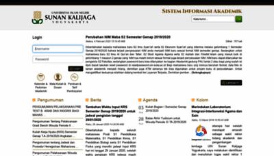 What Akademik.uin-suka.ac.id website looked like in 2020 (1 year ago)