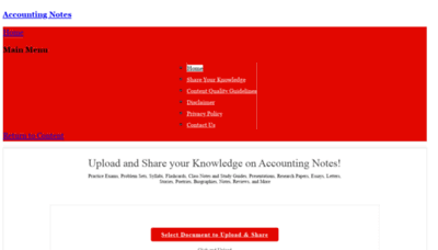 What Accountingnotes.net website looked like in 2020 (1 year ago)
