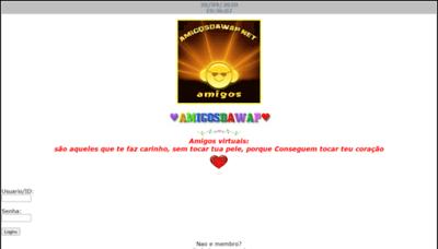 What Amigosdawap.net website looked like in 2020 (1 year ago)