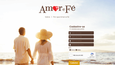 What Amorefe.com.br website looked like in 2020 (1 year ago)