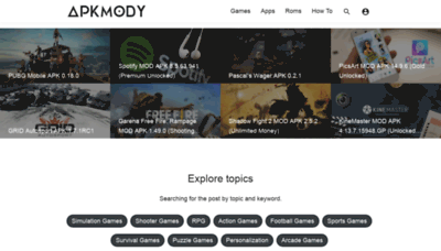 What Apkmody.io website looked like in 2020 (1 year ago)