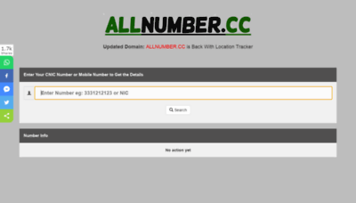 What Allnumber.cc website looked like in 2020 (1 year ago)