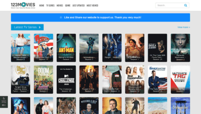 What All123movies.to website looked like in 2020 (This year)