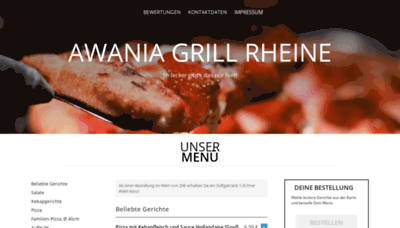 What Awaniagrill.de website looked like in 2020 (This year)