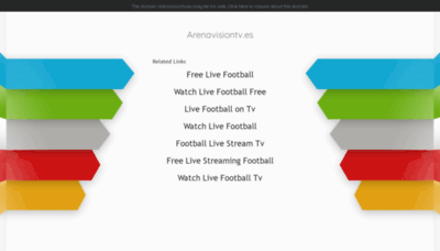 What Arenavisiontv.es website looked like in 2020 (This year)