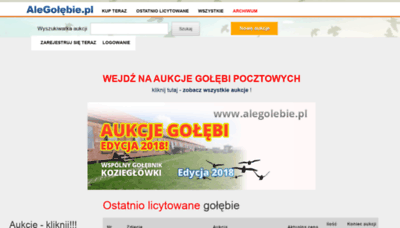What Alegolebie.pl website looked like in 2020 (This year)
