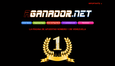 What Aganador.net.ve website looked like in 2020 (This year)