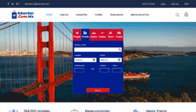 What Abordar.com.mx website looks like in 2021