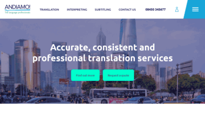 What Andiamo.co.uk website looks like in 2021