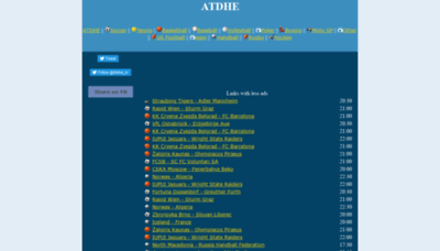 What Atdheeu.eu website looks like in 2021