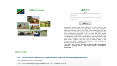 What Ards.kilimo.go.tz website looks like in 2021