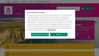 What Aib.ie website looks like in 2021